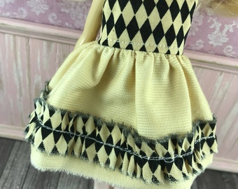 Blythe Dress - Tea Stain with Harlequin