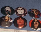 OZZY OSBOURNE 6 one inch pin back buttons badge set