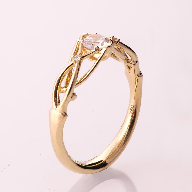 Celtic Engagement Ring Celtic Three Stone Engagement Ring