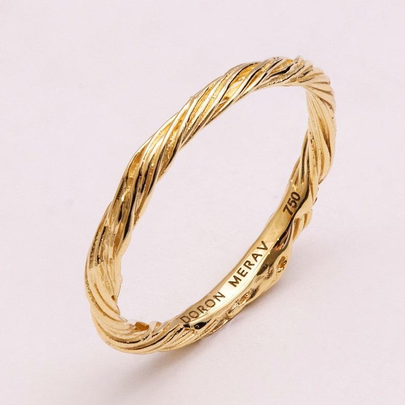332fd4a0110f87 Twig Ring 14K Gold Ring unisex ring wedding ring wedding | Etsy