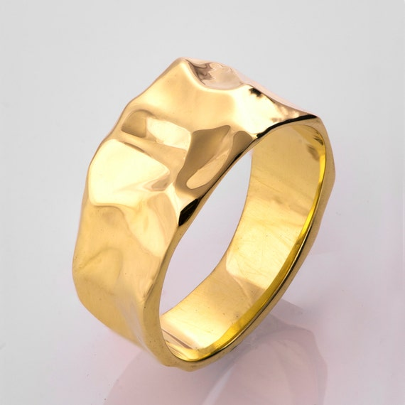 14K Gold Wedding Band | 14k Gold Wedding Band Unisex Ring Butter Ring 14k Gold Etsy