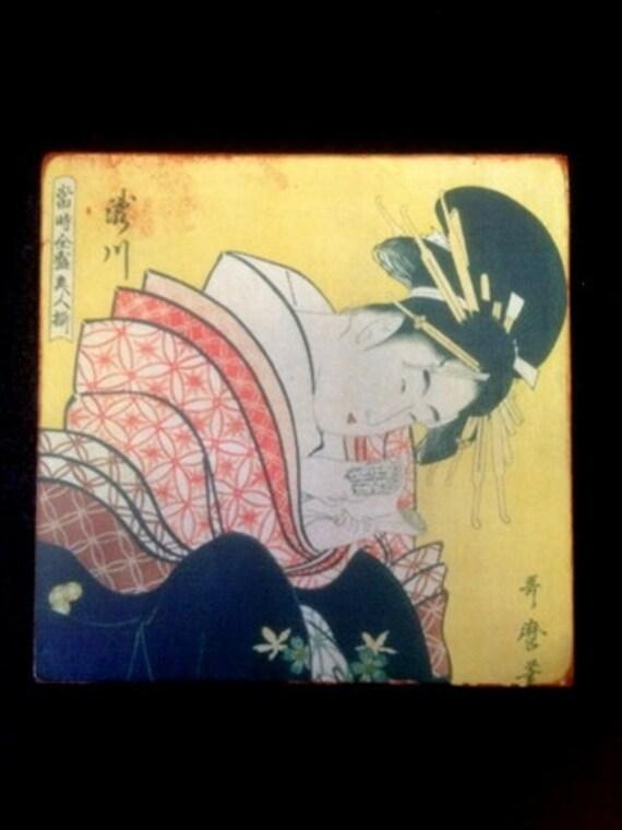 Wand Fliesen japanische Geisha-Stil Antik Look