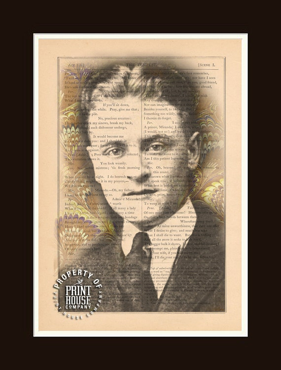 F Scott Fitzgerald Book Print Printed On An Antique Book Etsy