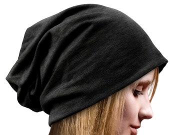 1e7dd47a750 Beanie Slouch Beanies Hat Cotton Jersey Beanie Women Men Unisex Hat Boho  Bohemian Grunge Cap Goth hat Chemo Hats