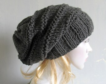 Women Hat Baggy Beanies cable knit JUMBO SLOUCHY Beanie Hat extra Large  knit beanie Oversized Beanie Hat extra Large Slouchy dreadlock hat f778fe479