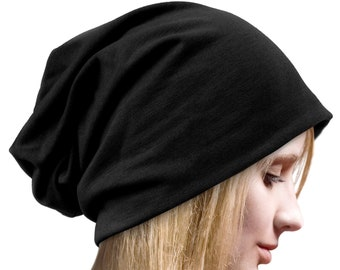 6 Colors Slouch Black Hat Black Beanie Black Hat for Men Woman Long Extra  Large Black Oversized Slouchy Beanie Hat Goth Hat b58583ff075
