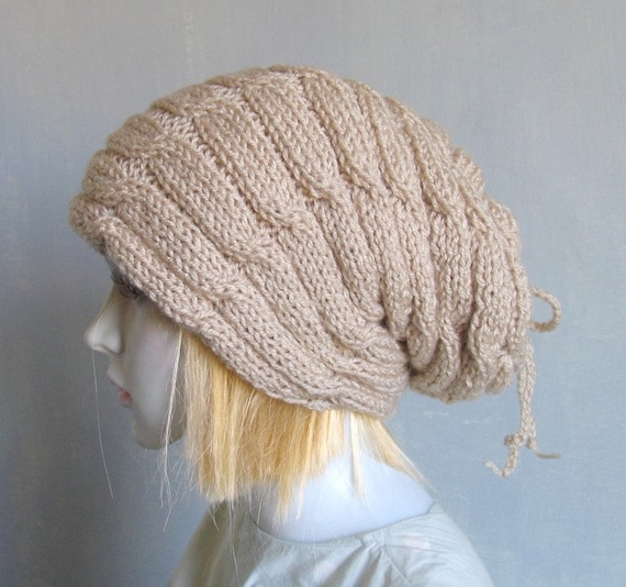 Extra Large Knit Hat Warm Large Baggy Beanie Hat Hippy Unisex  254ce2ff9eb