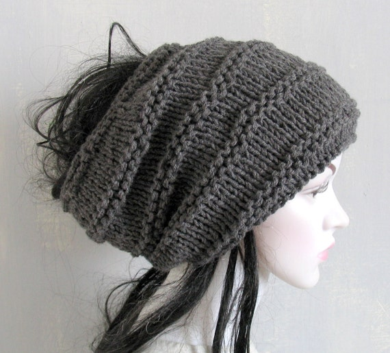 1459d257b05 Men Women Black Slouchy Beanie Dreadlock Tam Winter Beanie Hat