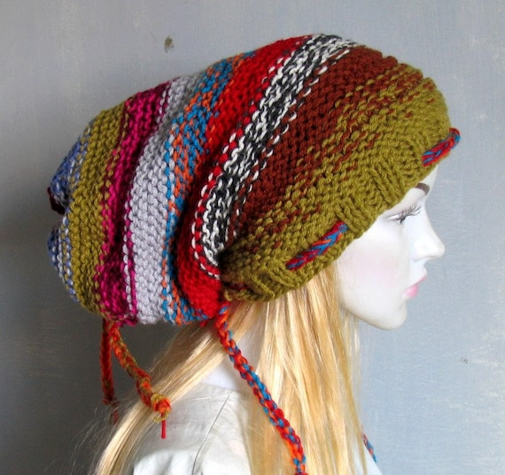 Knitted Dreadlock Hat Chunky Beanie Large Beanie Oversized  a101a3740