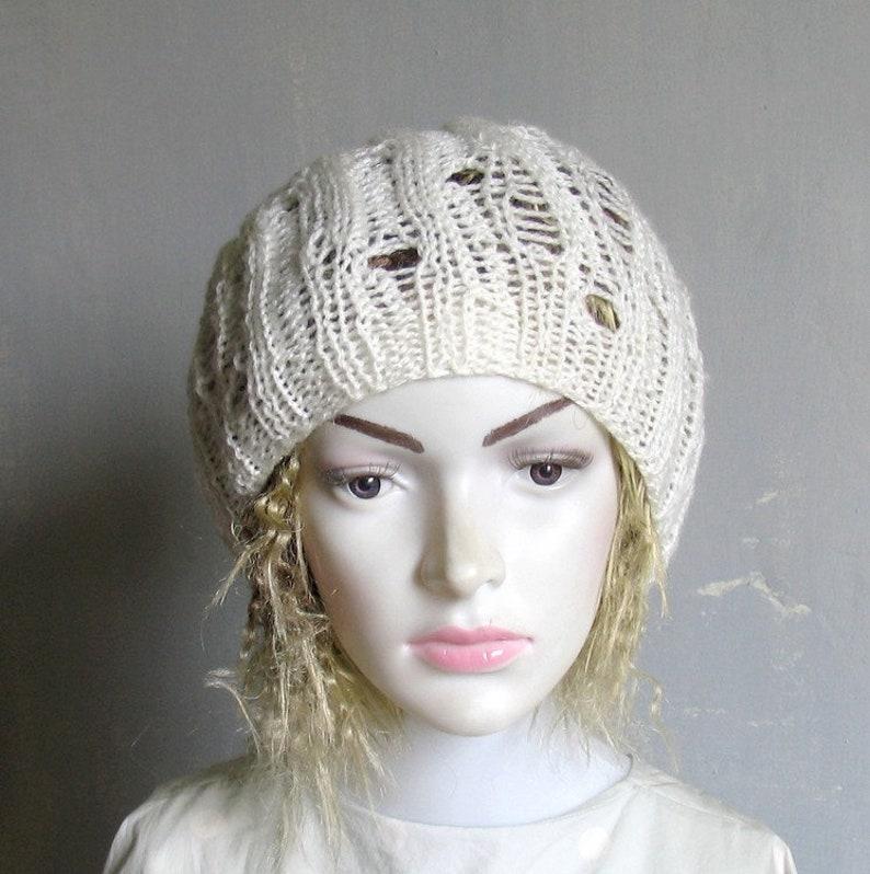 Dreadlock Tam Hat Large Beanie Oversized Beanie Slouchy Dreadlocks hat for Men Women Knit Hat Hand Knit Slouch XL dreads Tam summer Goth Hat