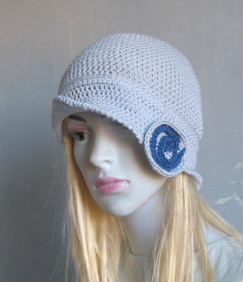 Bamboo Sun Hat Downtown Cloche Hat Summer Hand Cotton Crochet Hat Flower Winter Hat 1920/'s Flapper Hat Flapper Cloche
