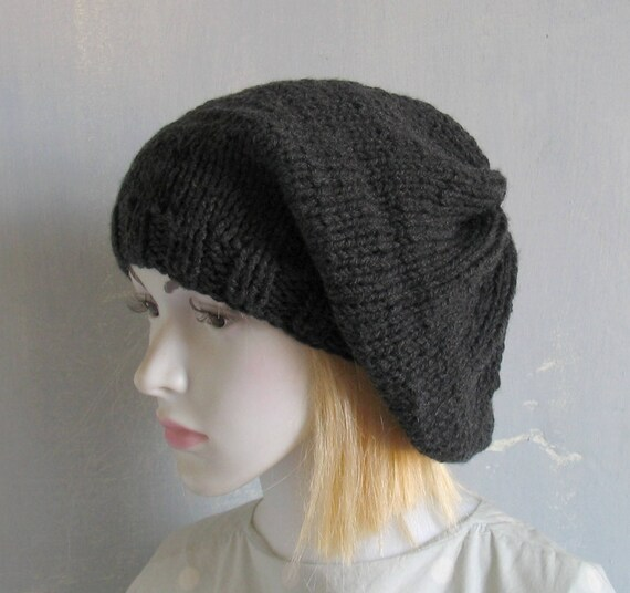 Knit Hat Chunky Knit Womens Men Mens Hat Beanie Knit Beret  002cdc97aa6