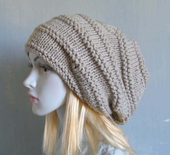 Super Slouchy Beanie Big Slouch Baggy Hat Winter Adult Chunky  4ddb60c2ce5