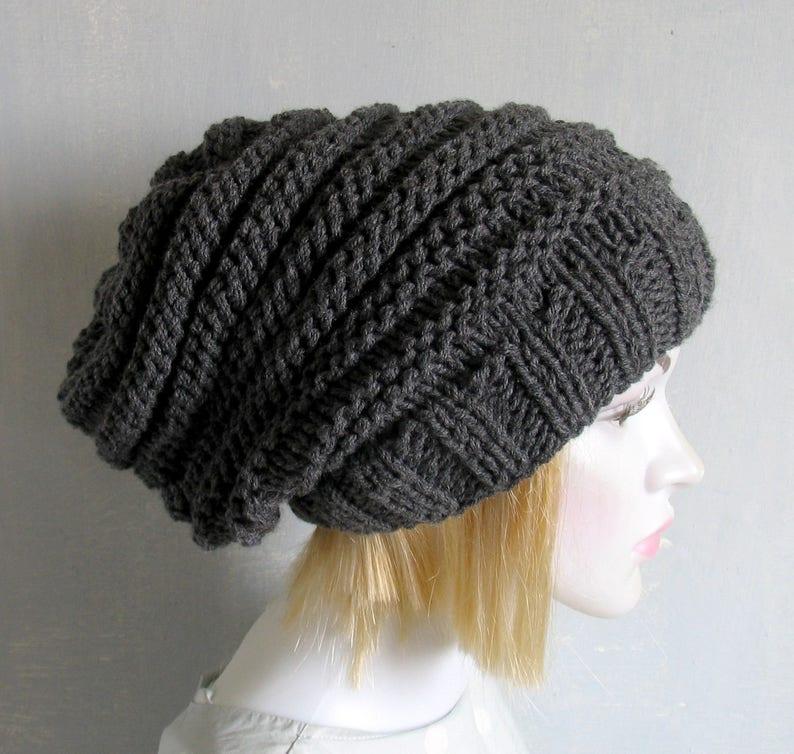 cfc1d659 Women men slouchy beanie hat Slouch Beanie Large hat   Etsy