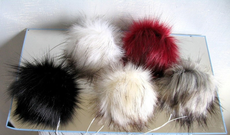 f616da9081e 27.9 Large Faux Fur Pom Pom PomPom Handmade Craft