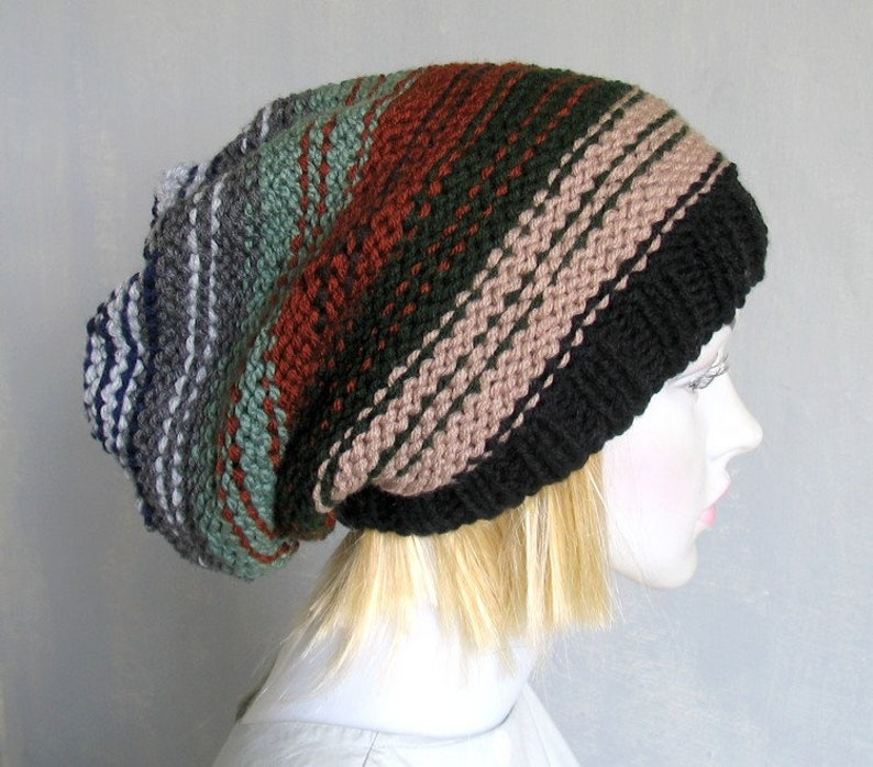 cd8c1496ccf Colorful Long Dreadlock Rasta Dread Tam Super Slouchy Hat