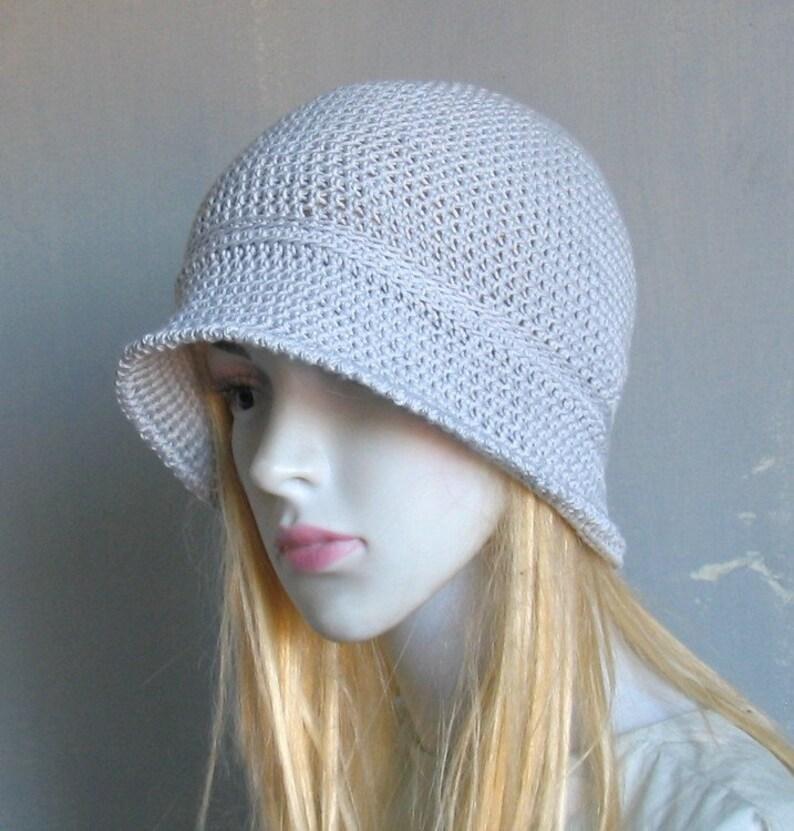 3d8fdb4741b19 Bamboo Sun Hat Downtown Cloche Hat Summer Hand Cotton Crochet