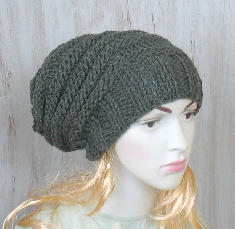 f7fe6c9edd1 Womens Winter Hat Hand Knit Hat Slouchy Knit Hat Winter