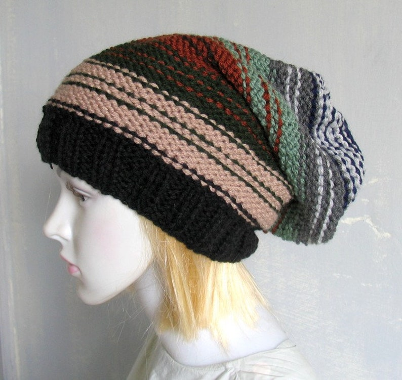 2559a70f5cf Sacking Winter Hat Slouchy Beanie Hat Oversized Hat Chunky