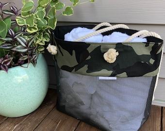 Beach Bag Tote / Beach Bag Woman / Large Beach Bag / Beach Bag/Waterproof /Summer Tote / Summer Bag / Camo