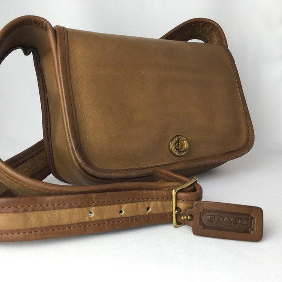 Coach New York (!) vintage 70s leather bag purse|1