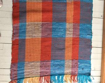 handwoven  cotton rag rug
