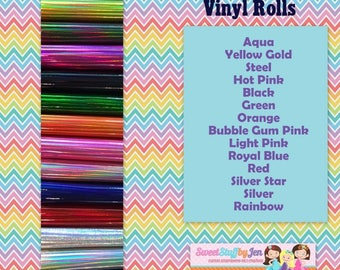 Holographic Marine Vinyl Rolls-Sparkle Vinyl-Glitter Vinyl Variety Pack-FOR EMBROIDERY MACHINES-Hooded Towel Supply-Doll Making
