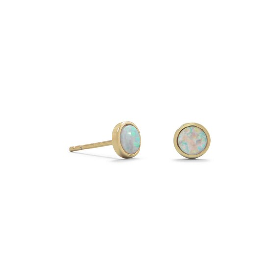 Synthetic Opal Studs