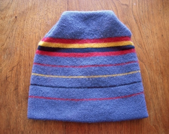 20c58329c89 1980s Kids Ski Hat Wool Beanie Striped 80s Boy s Winter Snowboarding Knit  Cap