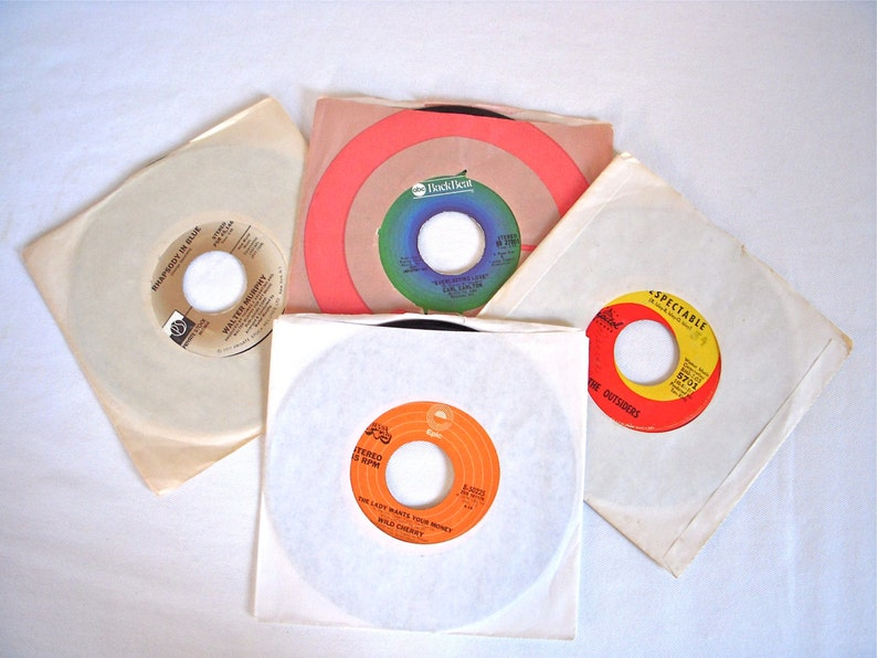 Rare 45s Lot of 5 1960s Blue Eyed Soul Rock 1970s R&B Disco Funk Record  Albums The Outsiders Walter Murphy Carl Clayton Wild Cherry Brit Pop