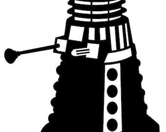 Dalek #2 decal vinyl sticker Doctor Who