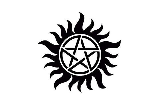 Supernatural Protection Symbol Etsy