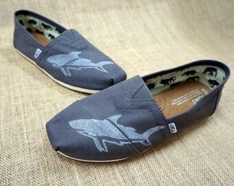 Men's Shark Custom TOMS Shoes