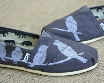 Birds on a Wire Custom TOMS shoes
