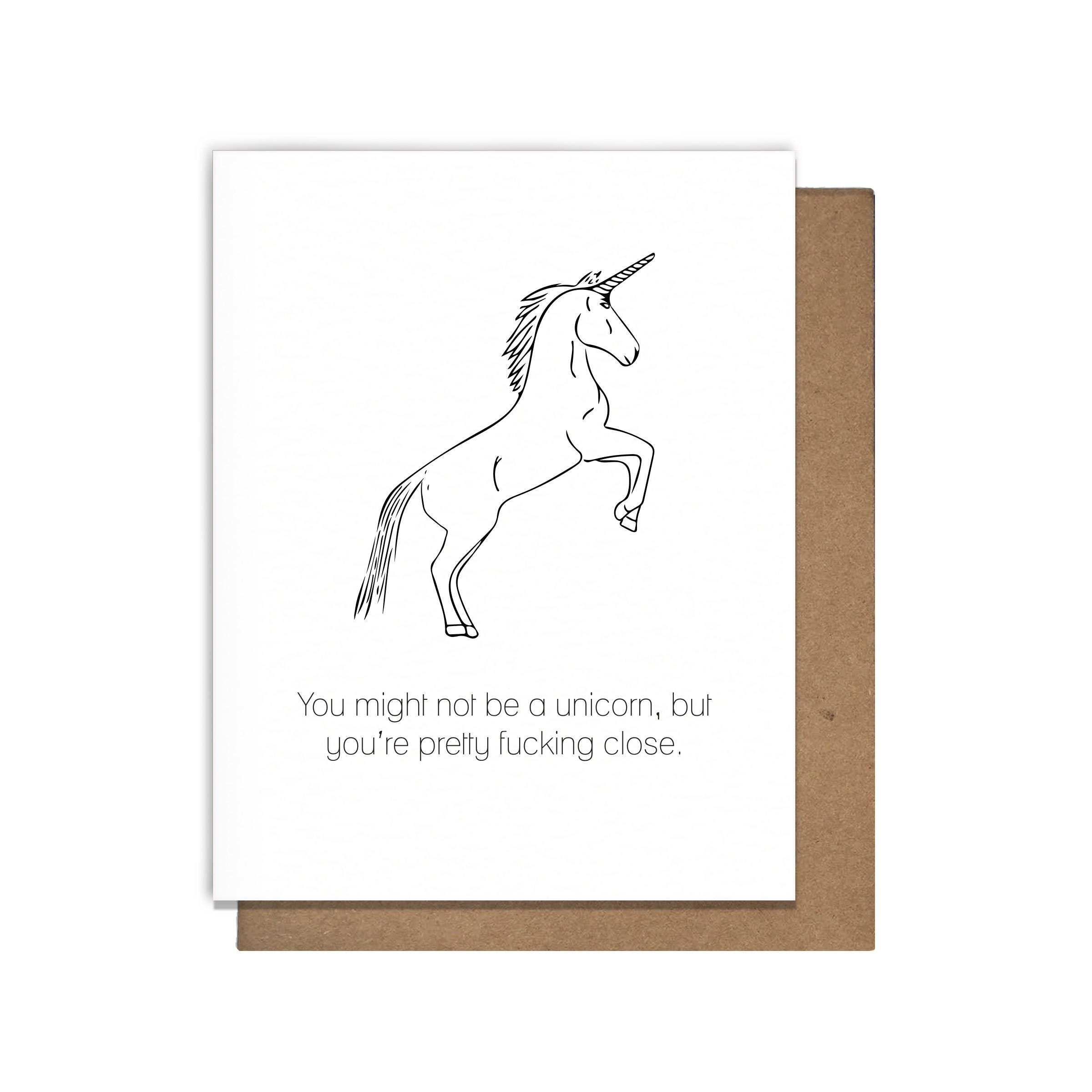 Perfect For Anniversary Cards And: Perfect Unicorn Letterpress Greeting Card Love Valentines