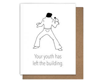Elvis Birthday Letterpress Greeting Card