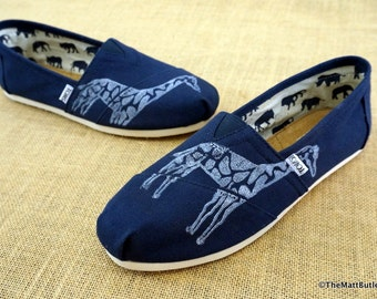 Giraffe Custom TOMS Shoes