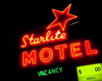 Starlite Motel Neon Sign | Minneappolis Art | Mid Century Modern Decor | Neon Signage | Minnesota Art | Motel Sign | Fine Art