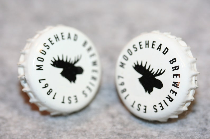 Cufflinks Cuff Links Bottle Cap Cufflinks Beer Bottle Cap Cuff Links Handcrafted Cuff Links Moose Head Beer Beer Bottle Caps
