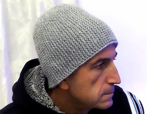 Light Grey Warm Mens  Knitted Hat Winter hat Men s  33cf4f33d17