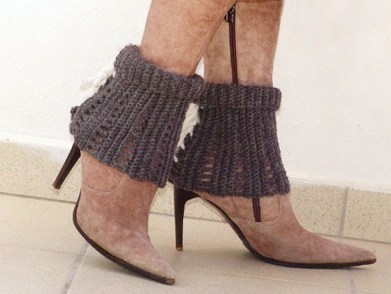 Spats, Gaiters, Puttees – Vintage Shoes Covers Lace Boot Socks Boot Covers Crochet Cuffs $30.71 AT vintagedancer.com