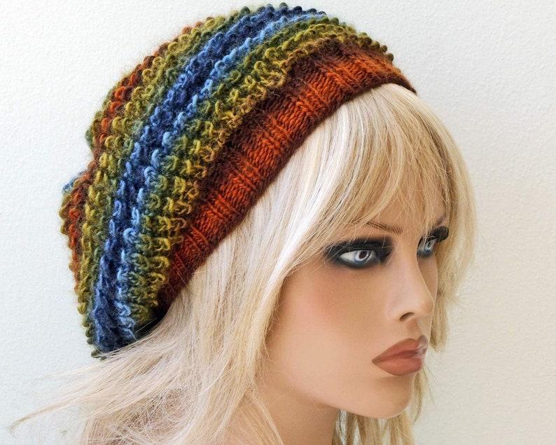 Oversized knit hat Acrylic beanie Soft slouchy hat