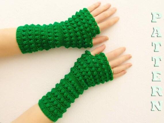 Pdf Häkeln Muster Fingerlose Handschuhe Fäustlinge Arm Etsy