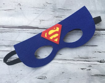 Layered Superman Felt Mask  Superman Mask Superhero Mask Birthday Mask Superman Birthday