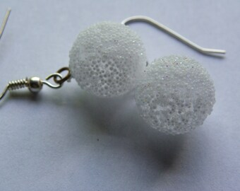 Dangle Snowball Earrings  #518