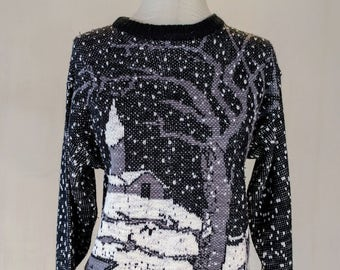 Cold Winter Snow Knit Sweater Shirt Top