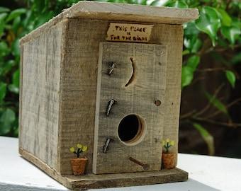 OUTHOUSE BIRDHOUSE, Outhouse Bird House, Rustic, Reclaimed Wood Bird House, Outhouse Decor, Outhouse Art, Outhouse, Birdhouse
