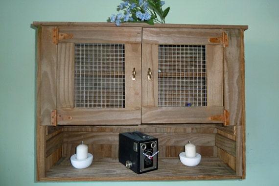 Reclaimed Wood Rustic Wall Cabinet Bathroom Wall Cabinet