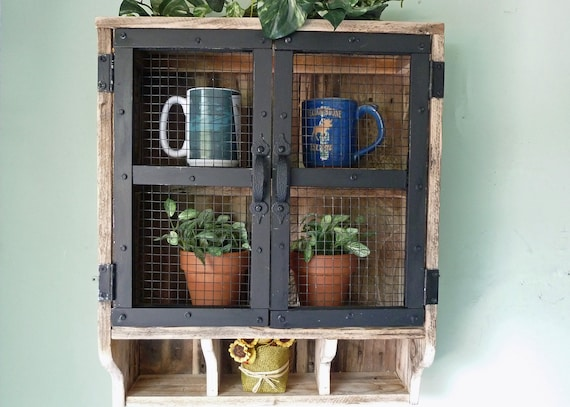 Reclaimed Wood Rustic Wall Cabinet Bathroom Wall Cabinet Etsy