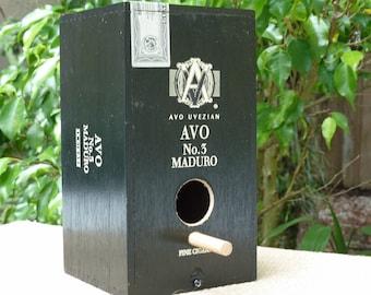 CIGAR BOX BIRDHOUSE, Cigar Box Decor, Cigar Box Bird House, Cigar Box